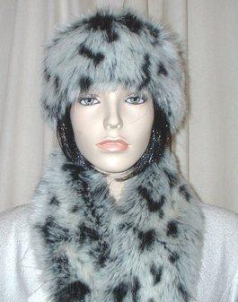 Winter Leopard Faux Fur Headband