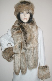 Husky Faux Fur Tail Scarf