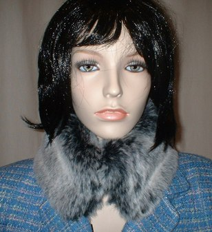 Arctic Wolf Faux Fur Collar