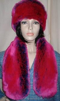 Pink Panther Faux Fur Neck Scarf
