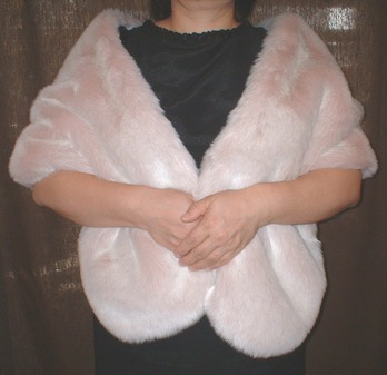 Pink Champagne Faux Fur Stole