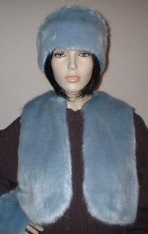 Powder Blue Faux Fur Bolero/Waistcoat