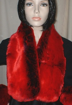 Devil Red Faux Fur Neck Scarf