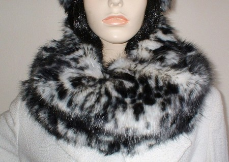 Panther Faux Fur Cowl
