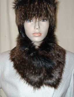 Kodiac Bear Faux Fur Long Collar