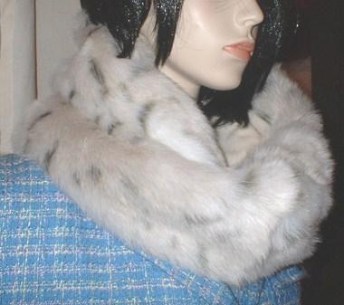 Snow Lynx Faux Fur Cowl/Neck Warmer
