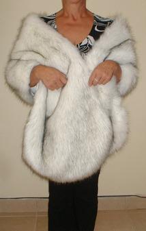 Alaska Faux Fur Long Stole