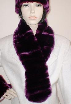 SALE Tissavel Indulgence Faux Fur Pull Through Scarf