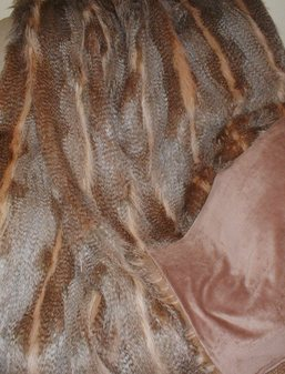 Desert Coyote Faux Fur Throw