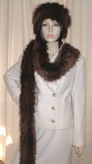 Kodiac Bear Faux Fur Super Long Scarf