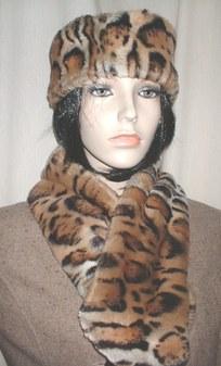 Jaguar Faux Fur Neck Scarf