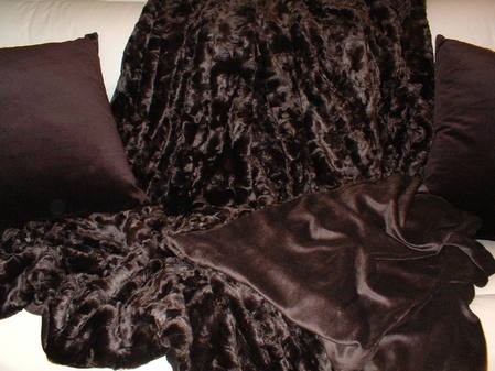Chocolate Astra Faux Fur Throw