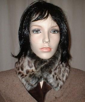 Ocelot Faux Fur Collar