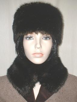 Mahogany Mink Faux Fur Collar