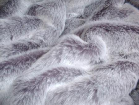 Silver Lavender Fox Faux Fur