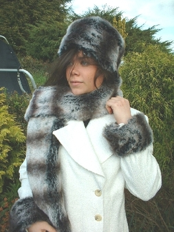 Chinchilla Faux Fur Scarf