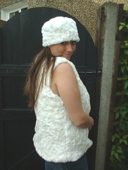 Ivory Astra Faux Fur Hat