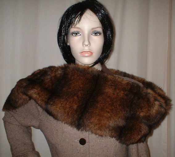Tissavel Sable Faux Fur Fling